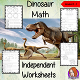 Dinosaur Themed Independent Math Work