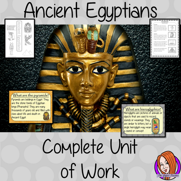 Ancient Egyptian Complete Unit Lesson Bundle This download includes complete lesson plans and resources for 9 lessons on the Ancient Egyptians. The lessons focus on different subjects related to Ancient Egypt and consolidating knowledge.  Included are 9 lesson plans for the whole unit of work, PowerPoints for each lesson, class activities and handouts. Brought all together and save 30% #lessonplanning #ancientegyptians #egyptians #teaching #resources #historylessons #historyplanning
