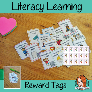 English Language Learning Reward Tags (Brag Tags) great for behaviour management classroom organisation and classroom management #bragtags #rewardtag #awardtags #backtoschool