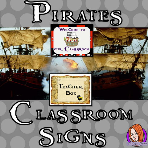 Pirate Themed Classroom Signs This download includes fun pirate themed classroom signs. These are great for teachers and kids to have a pirate room and add extra pirate to your room. This download includes: - Book hospital sign - Teacher box sign  - Welcome to our class sign - Editable welcome sign - 16 subject box labels #classroomthemes #teachingideas #pirateclassroom