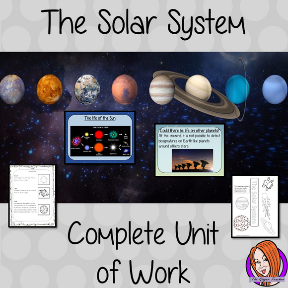 The solar system Complete Unit Lesson Bundle This download includes complete lesson plans and resources for 7 lessons on the solar system. The lessons focus on different subjects related to the solar system and consolidating knowledge.  Included are 7 lessons for the whole unit of work, PowerPoints for each lesson, class activities and handouts. Brought all together and save 30% #lessonplanning #thesolarsystem #space #teaching #resources #sciencelessons #scienceplanning