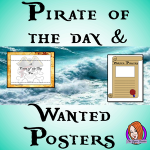 Pirate of the Day Certificate and Wanted Poster This download includes a fun pirate of the day certificate to reward hard working students and pirate wanted poster template to draw and describe themselves or a fictional pirate. These are great to complete your pirate themed classroom.  #classroomthemes #teachingideas #pirateclassroom