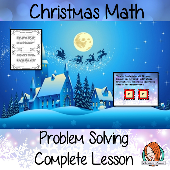 Christmas Maths Problem Solving Complete Lesson