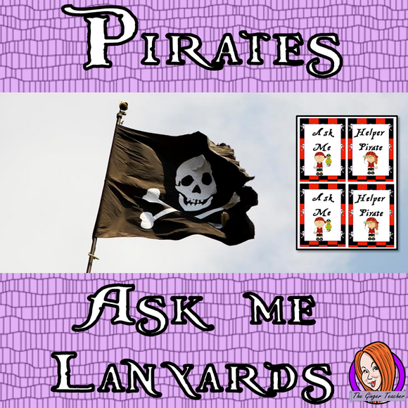 Pirate Themed 'Ask Me'/ Pirate Helper Lanyards This download includes a fun pirate lanyard for your classroom helpers. These are great for kids to help their teacher and classmates when they finish their work This download includes: - Ask me and pirate helper lanyard cards - Full instructions #classroomthemes #teachingideas #pirateclassroom