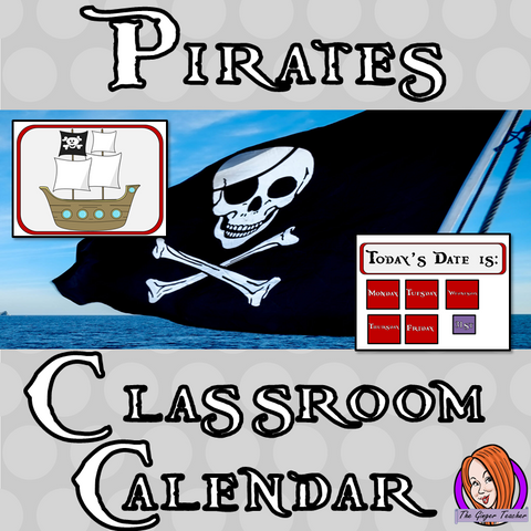 Pirate Classroom Calendar Display This download includes a fun pirate themed classroom calendar display for your classroom. These are great for teachers and kids to have a pirate room and celebrate everyone's birthday. This download includes: - Calendar title - Pirate ship calendar display  - Days of the week signs - Months of the year signs - 31 date signs  - Full calendar instructions #classroomthemes #teachingideas #pirateclassroom