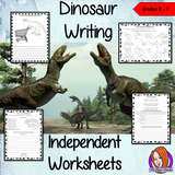 Dinosaur Themed Independent Writing Work