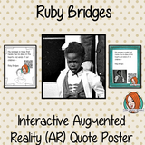 Ruby Bridges Interactive Quote Poster Augmented Reality (AR) interactive quote poster This poster can be printed and used in your classroom access the augmented reality aspects of this poster download the free Metaverse AR (augmented reality) app. Ruby Bridges will appear in your classroom to give your kids extra facts and a short video. Included are two posters one color and one black and white with AR codes for interactive content #blackhistorymonth #blackhistory #rubybridges