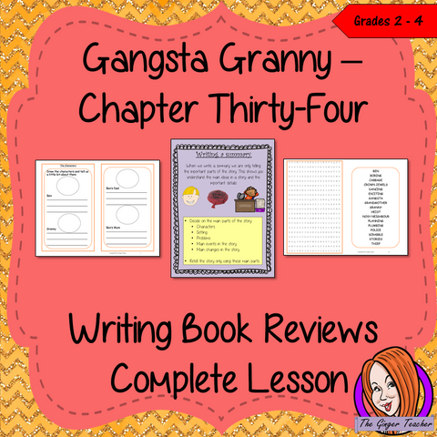 Writing a Book Report; Complete Lesson  – Gangsta Granny. Complete, English lesson on the last (34th) chapter of the book Gangsta Granny by David Walliams. The lesson focuses on how to write a summary and book reports. The lesson uses the events in the chapter, and the book as a whole, as a base. Children will read and discuss the chapter. The class will complete a 22 page booklet on Gangsta Granny to create a Book Report. #lessonplans #bookstudy #teachingideas #readingactivities