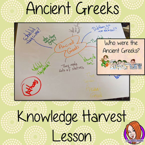 The Ancient Greeks - Knowledge Harvest Lesson This download is a complete lesson on introducing the Ancient Greeks with a knowledge harvest. It is the perfect lesson to start a topic on the Ancient Greeks. Included: Full lesson plan, Example knowledge harvest, Big Question #lessonplanning #Greeks #teachingresources #teaching #resources #historylessons #historyplanning #ancientgreeks
