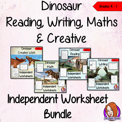 Dinosaur Themed Independent Work Bundle