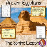 Ancient Egyptian The Sphinx - Complete History Lesson a complete resources lesson to teach children about the Sphinx in Ancient Egypt.  The children will learn what the Sphinx is, why the Egyptians built them and why cats were so important. There is a detailed PowerPoint 6-page worksheet to allow children to show their understanding, activity to create a fact sheet and a Sphinx word bank. #lessonplanning #ancientegyptians #egyptians #teaching #resources #historylessons #historyplanning