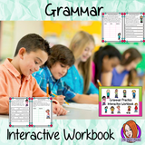 Interactive Grammar Workbook to teach and reinforce grammar principles. 12 page workbook to allow children to practice nouns, pronouns, proper nouns, verbs, adjectives, passive active sentences, synonyms, antonyms, strong and weak verbs,  prefixes, suffixes and tenses. This book can be used as individual pages or workbook. Children can cut and stick or if preferred this can use be made into a reusable book. #teaching #grammar #spag #spelling #punctuation #lessons #planning #english