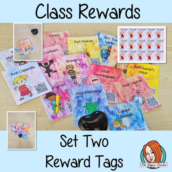 Classroom Awards Reward Tags set two Brag tags Give you class something to brag about! These reward tags can be printed and used in your classroom for behaviour management. Children love to collect them all so they are a perfect behavior management system  #bragtags #rewardtag #awardtags