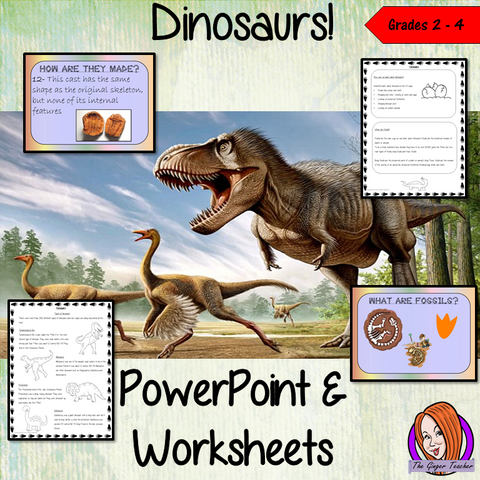 Dinosaurs - PowerPoint and Worksheets