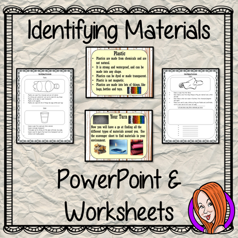 Identifying Materials   -  PowerPoint and Worksheets