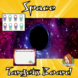 Outer Space Classroom Targets Board This download includes a fun outer space themed classroom targets board for your children to record their progress. These are great for teachers and kids to have a space themed room and give children responsibility for their own targets. This download includes: - Editable astronauts names - Instructions  - Targets board #classroomthemes #teachingideas #spaceclassroom