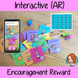 Interactive Motivational and encouragement Reward Tags brag tags! These tags can be used in your classroom for behaviour management. If you want to promote good behavior of students brag tags! This is a whole class behaviour management system promotes good behaviour in class download the free AR (augmented reality) app and a fun character will appear in your classroom! Each tag has AR reward that collect also option to take reward selfie. #augmentedreality #bragtags #rewardtag #awardtags