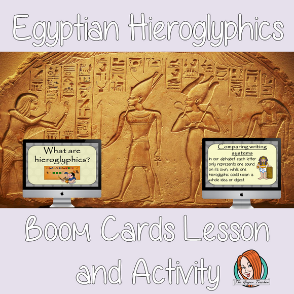 Egyptians Hieroglyphics - Boom Cards Digital Lesson