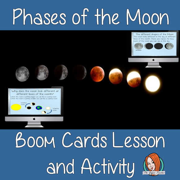 Phases of the Moon - Boom Cards Digital Lesson