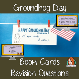 Groundhog Day Revision Questions  This deck revises children's knowledge of Groundhog Day. There are multiple choice revision questions to check children's understanding. These question cards are self-grading and lots of fun!