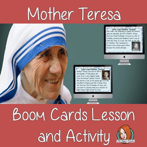 Mother Teresa - Boom Cards Digital Lesson