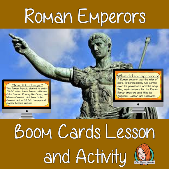 Roman Emperors - Boom Cards Digital Lesson