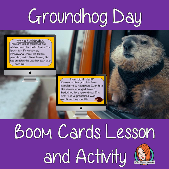 Groundhog Day - Boom Cards Digital Lesson