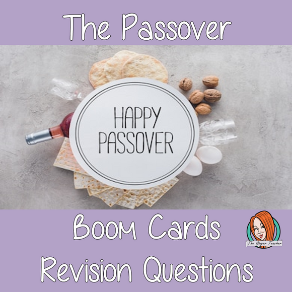 The Passover Revision Questions  This deck revises children's knowledge of the Passover. There are multiple choice revision questions to check children's understanding. These question cards are self-grading and lots of fun!