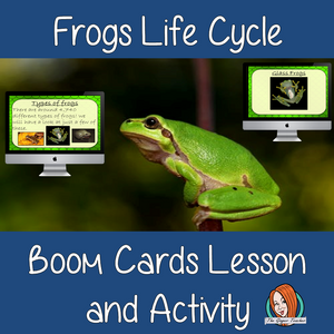 Frogs Life Cycle - Boom Cards Digital Lesson