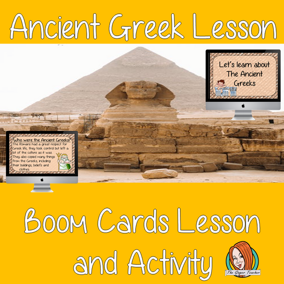 Ancient Greek Lesson - Boom Cards Digital Lesson