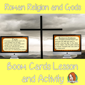 Roman Religion and Gods - Boom Cards Digital Lesson