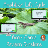 Amphibian Life Cycle Revision Questions  This deck revises children's knowledge of Amphibian Life Cycle. There are multiple choice revision questions to check children's understanding. These question cards are self-grading and lots of fun!