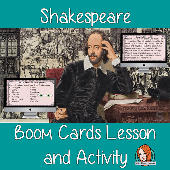 Shakespeare - Boom Cards Digital Lesson