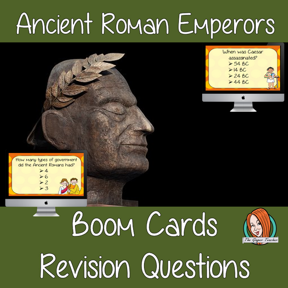 Ancient Roman Emperor Revision Questions  This deck revises children's knowledge of Ancient Roman Emperor. There are multiple choice revision questions to check children's understanding. These question cards are self-grading and lots of fun!
