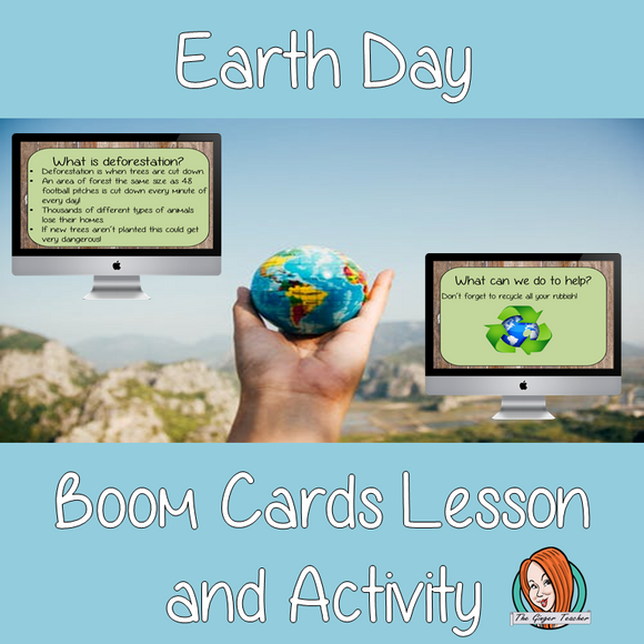 Earth Day - Boom Cards Digital Lesson