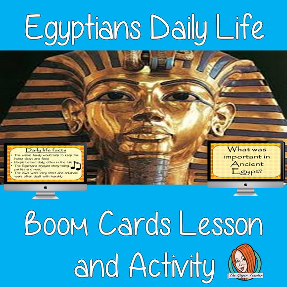 Egyptians Daily Life - Boom Cards Digital Lesson