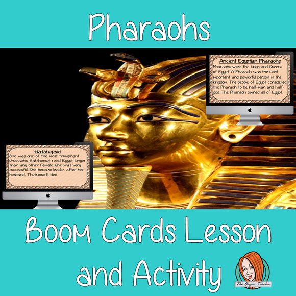 Pharaohs - Boom Cards Digital Lesson