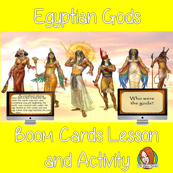 Egyptian Gods - Boom Cards Digital Lesson