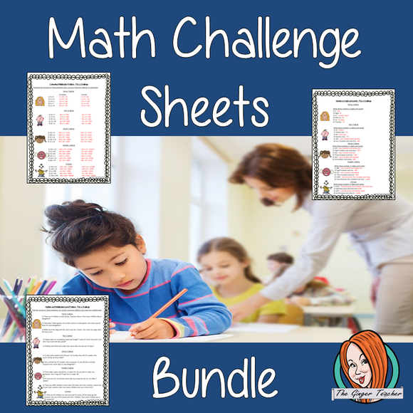 Math Challenge Sheets Bundle