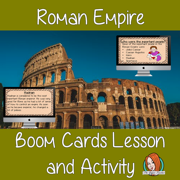 Roman Empire - Boom Cards Digital Lesson