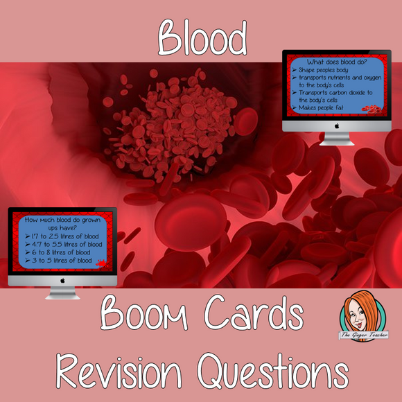 Blood Revision Questions  This deck revises children's knowledge of Blood. There are multiple choice revision questions to check children's understanding. These question cards are self-grading and lots of fun!