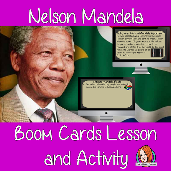 Nelson Mandela - Boom Cards Digital Lesson