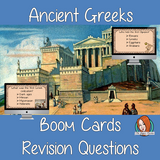 Ancient Greeks Revision Questions  This deck revises children's knowledge of Ancient Greeks. There are multiple choice revision questions to check children's understanding. These question cards are self-grading and lots of fun!