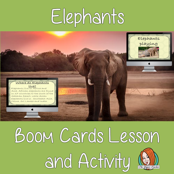 Elephants - Boom Cards Digital Lesson