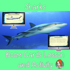 Sharks - Boom Cards Digital Lesson
