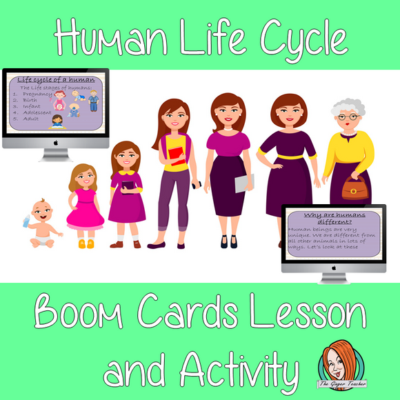 Human Life Cycles - Boom Cards Digital Lesson