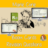 Marie Curie Revision Questions  This deck revises children's knowledge of Marie Curie. There are multiple choice revision questions to check children's understanding. These question cards are self-grading and lots of fun!