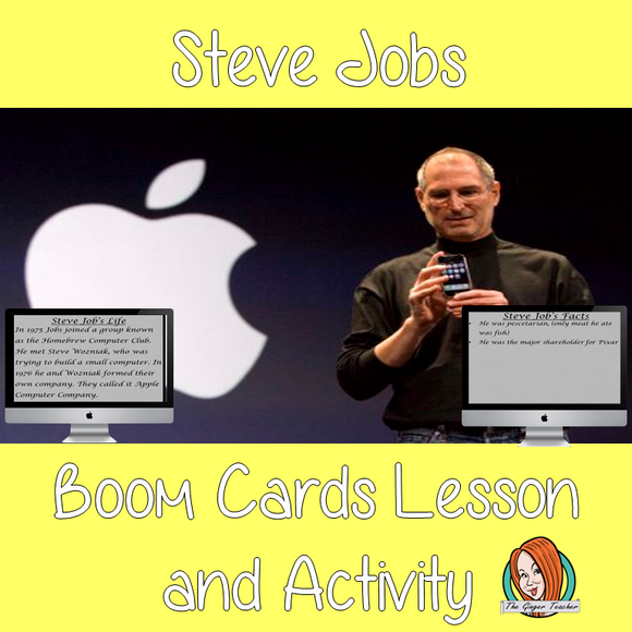 Steve Jobs - Boom Cards Digital Lesson