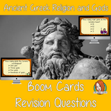 Ancient Greek Religion and Gods Revision Questions  This deck revises children's knowledge of Ancient Greek Religion and Gods. There are multiple choice revision questions to check children's understanding. These question cards are self-grading and lots of fun!