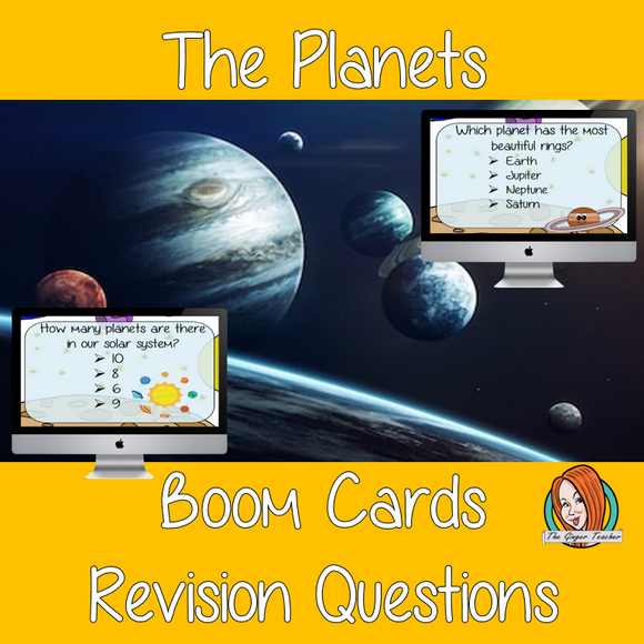 The Planets Revision Questions  This deck revises children's knowledge of The Plants. There are multiple choice revision questions to check children's understanding. These question cards are self-grading and lots of fun!